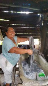 My friend Myrna, a saint, washing my clothes.