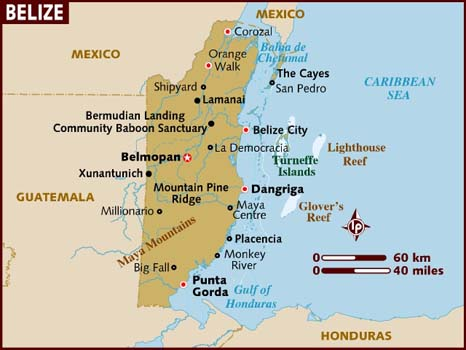Leaving Old San Ignacio Town in far western Belize (near Xunantunich on the map) for a few days down in Hopkins, Placencia and Punta Gorda (remember Harrison Ford in The Mosquito Coast?). Punta Gorda, known as PG in BZ, is the one place in BZ I've never been.